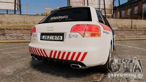 Audi S4 Avant Hungarian Police [ELS] для GTA 4 вид сзади слева