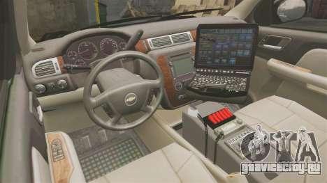 Chevrolet Tahoe 2008 LCPD [ELS] для GTA 4 вид сзади