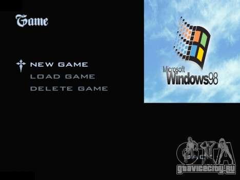 Меню Windows для GTA San Andreas второй скриншот