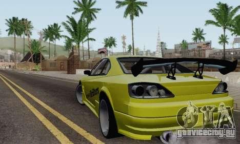 Nissan Silvia S15 Romanian Drifters для GTA San Andreas вид сзади слева