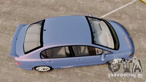 Honda Civic Si 2008 для GTA 4 вид справа
