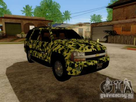 Chevrolet TrailBlazer Army для GTA San Andreas вид слева