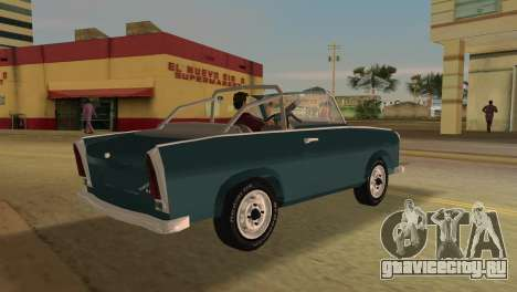 Trabant 601 Custom для GTA Vice City вид справа