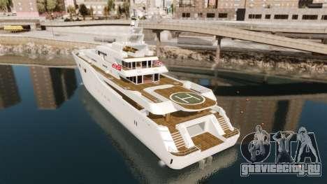 Полноценная яхта для GTA 4 вид сзади слева