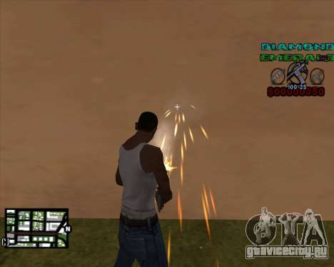C-HUD Diamond Emerald для GTA San Andreas второй скриншот