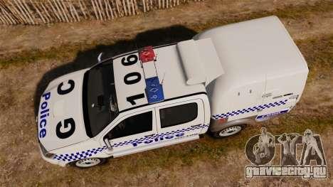 Toyota Hilux Police Western Australia для GTA 4 вид справа