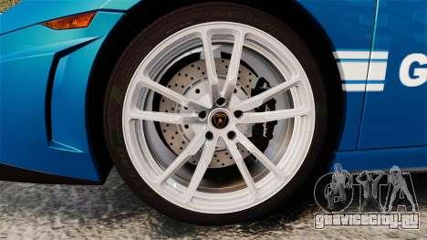 Lamborghini Gallardo Gendarmerie National [ELS] для GTA 4 вид сзади