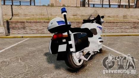 BMW R1150RT Police nationale [ELS] v2.0 для GTA 4 вид сзади слева