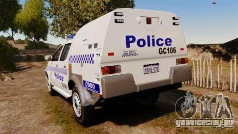 Toyota Hilux Police Western Australia для GTA 4 вид сзади слева