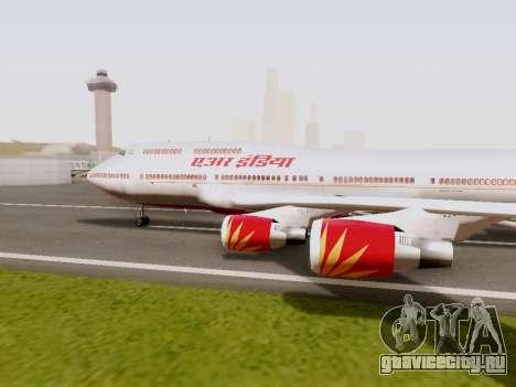 Boeing 747 Air India для GTA San Andreas вид слева