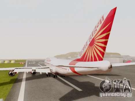 Boeing 747 Air India для GTA San Andreas вид сзади