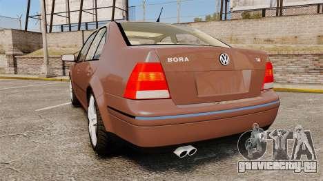 Volkswagen Bora 1.8T Camel для GTA 4 вид сзади слева