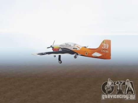 Embraer T-27 Tucano 30 Anos для GTA San Andreas вид справа