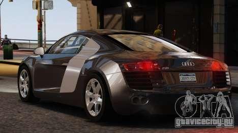 Audi R8 v1.1 для GTA 4 вид сзади слева