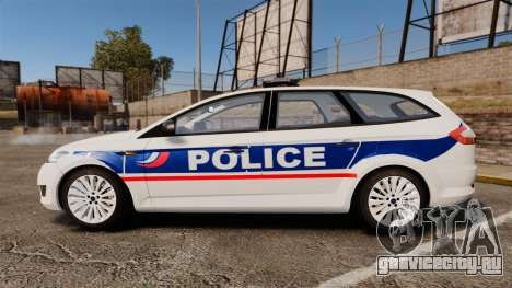 Ford Mondeo IV Wagon Police Nationale [ELS] для GTA 4 вид слева