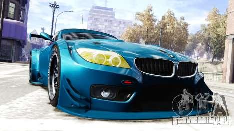 BMW Z4 GT3 2012 для GTA 4 вид справа