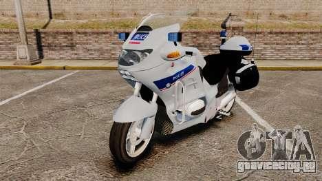 BMW R1150RT Police nationale [ELS] v2.0 для GTA 4