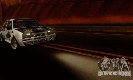 ВАЗ 2108 RDA для GTA San Andreas вид изнутри