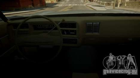 Chevrolet El Camino 1973 Old для GTA 4 салон