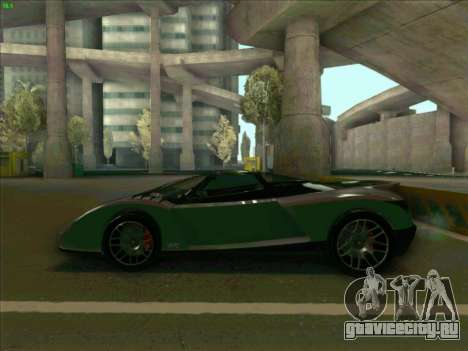 Cheetah Grotti GTA V для GTA San Andreas вид слева