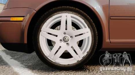Volkswagen Bora 1.8T Camel для GTA 4 вид сзади
