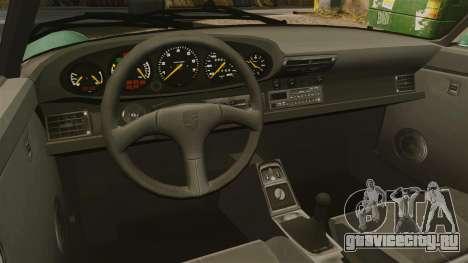 Porsche 911 Speedster для GTA 4 вид изнутри