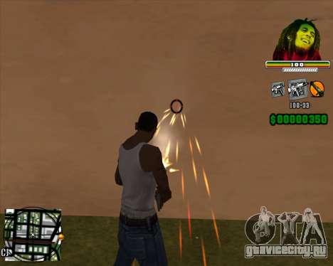 C-HUD Bob Marley для GTA San Andreas второй скриншот