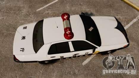 Ford Crown Victoria Japanese Police [ELS] для GTA 4 вид справа