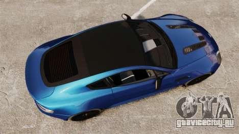 Aston Martin V12 Vantage S 2013 для GTA 4 вид справа