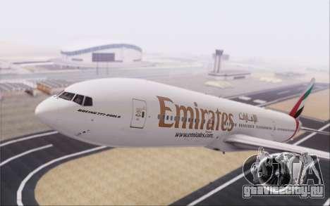 Emirates Airlines 777-200 для GTA San Andreas