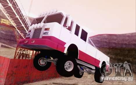 Offroad Firetruck для GTA San Andreas вид слева