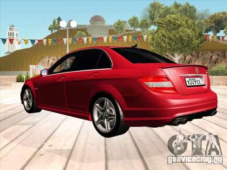 Mercedes-Benz C63 AMG HQLM для GTA San Andreas вид слева