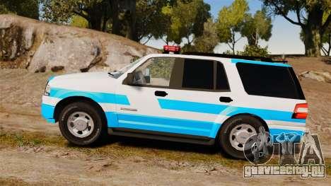 Ford Expedition Japanese Police SSV v2.5F [ELS] для GTA 4 вид слева