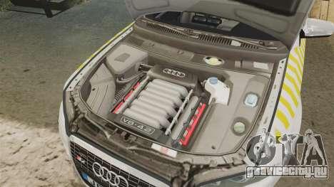 Audi S4 Avant Hungarian Police [ELS] для GTA 4 вид изнутри
