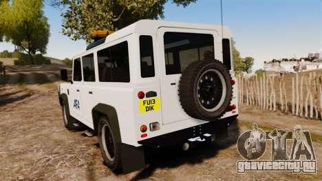 Land Rover Defender AFA [ELS] для GTA 4 вид сзади слева