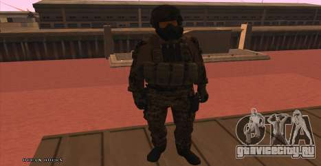 Global Defense Initiative Soldier для GTA San Andreas четвёртый скриншот