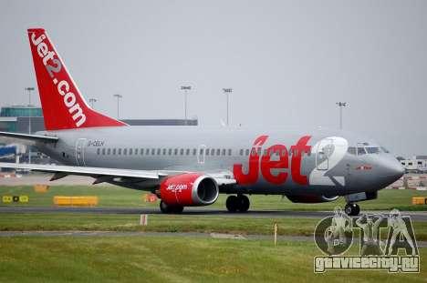 Boeing 737-800 Jet2 для GTA San Andreas вид сбоку