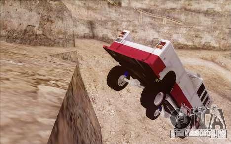 Offroad Firetruck для GTA San Andreas вид сзади слева