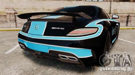 Mercedes-Benz SLS 2014 AMG Black Series Area 27 для GTA 4 вид сзади слева