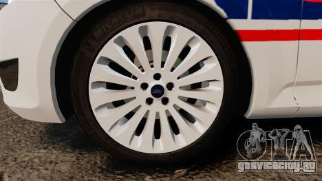 Ford Mondeo IV Wagon Police Nationale [ELS] для GTA 4 вид сзади