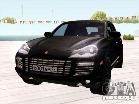 Porsche Cayenne Turbo S 2010 Stock для GTA San Andreas вид сзади слева