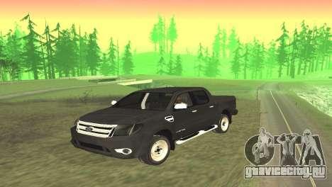 Ford Ranger Limited 2014 для GTA San Andreas вид сзади слева