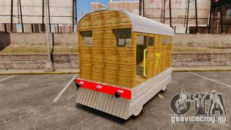 Поезд -Toby- для GTA 4 вид сзади слева
