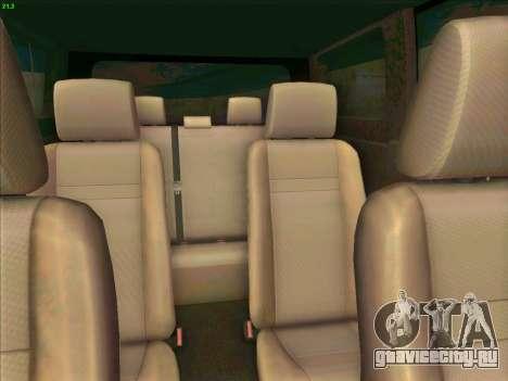 Toyota Alphard для GTA San Andreas вид изнутри