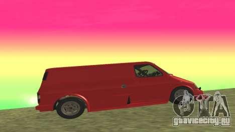 Ford Transit Supervan 3 Пользовательские для GTA San Andreas вид сзади