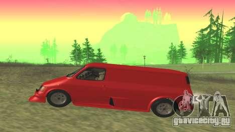 Ford Transit Supervan 3 Пользовательские для GTA San Andreas вид слева