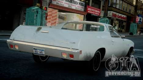 Chevrolet El Camino 1973 Old для GTA 4 вид справа