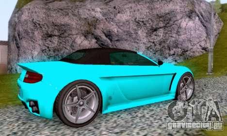GTA V Rapid GT Cabrio для GTA San Andreas вид сверху