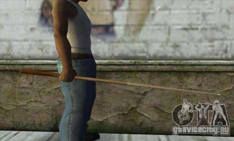 Pool cue для GTA San Andreas второй скриншот