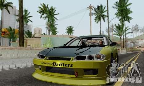 Nissan Silvia S15 Romanian Drifters для GTA San Andreas вид слева